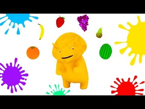 Download Youtube: Aprender las frutas, colores, formas y números con Dino el Dinosaurio | Dibujos animados educativos