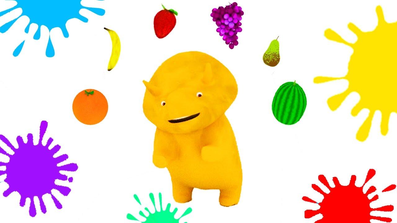 aprender las frutas colores formas y números con dino el