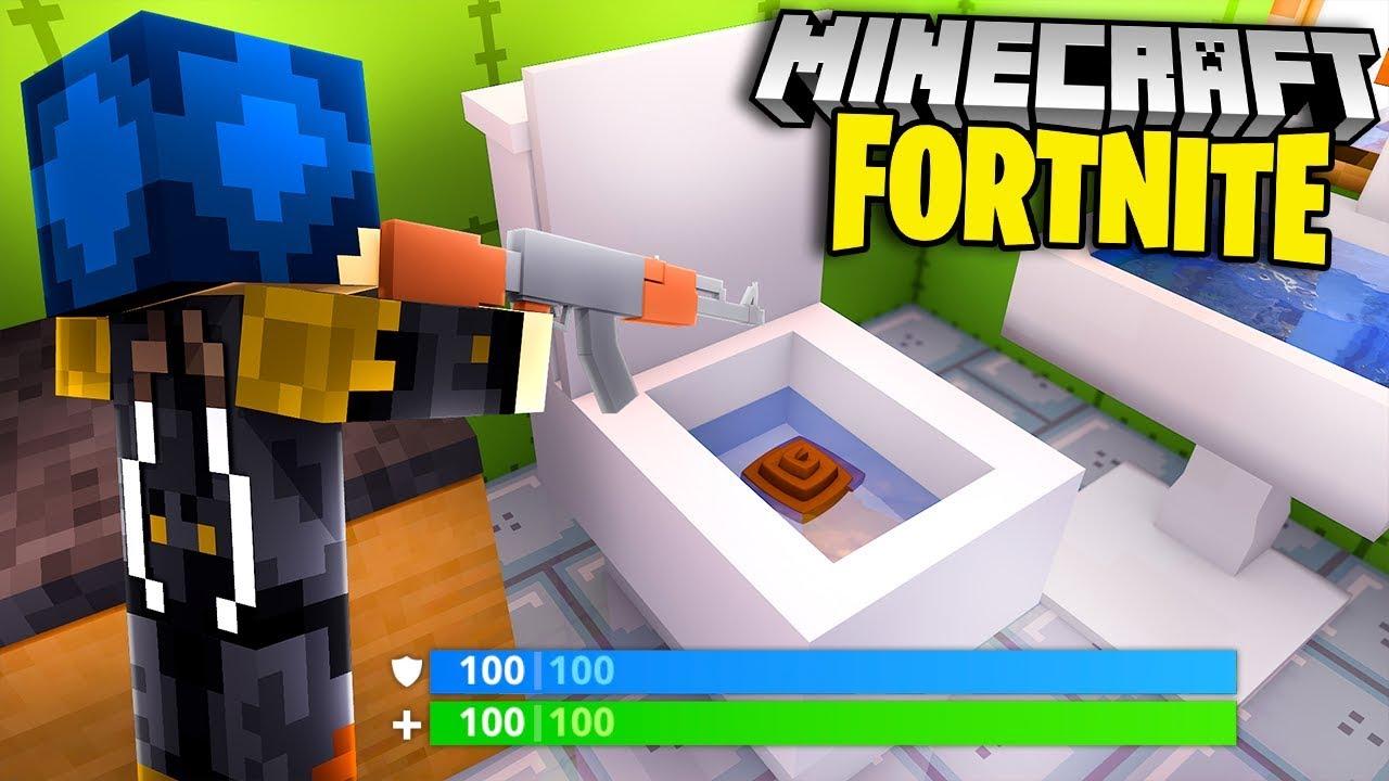 Minecraft Ita La Nuova Mappa Di Fortnite Nel Bagno Gigante Youtube