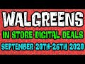Walgreens Digital Coupons In Store Breakdowns September 20th-26th  2020