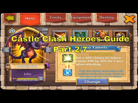 Castle Clash All Heroes Best Talents, Enchantments, Traits, Insignias, Pets @ Million Might (2/7)