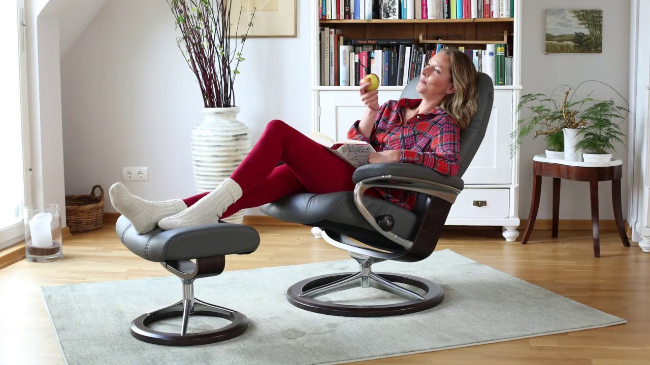 Relaxsessel stressless  Stressless Consul house-of-comfort.de - YouTube