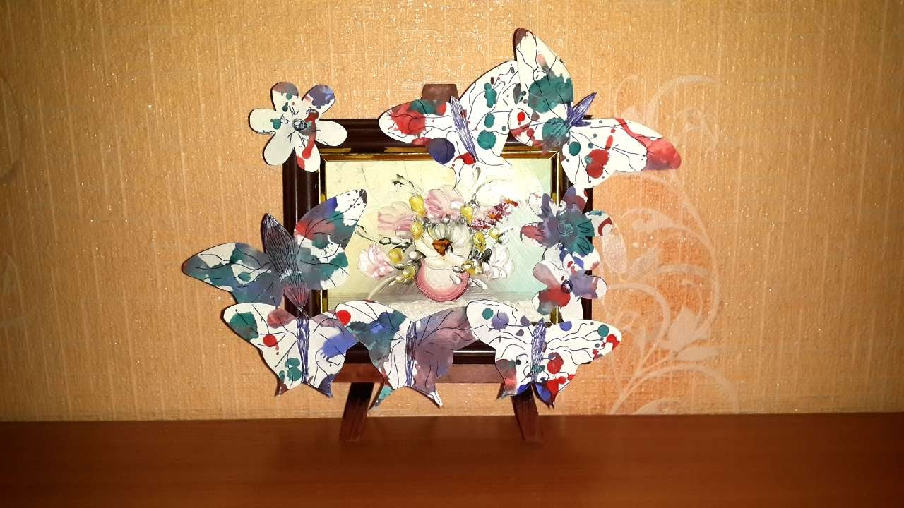 How To Make A Photo Frame Design Of Butterflies Diy Crafts