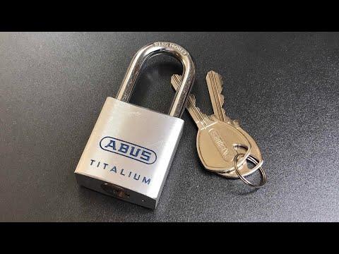Взлом отмычками ABUS Titalium 80TI/40  [534] Abus Titalium 80TI/40 Padlock Picked ()