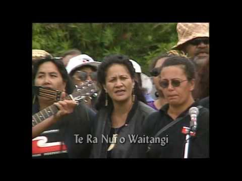 Waka Huia Archive 1999 April 11 - Te Kawariki protest group led by Hone and Hilda Harawira
