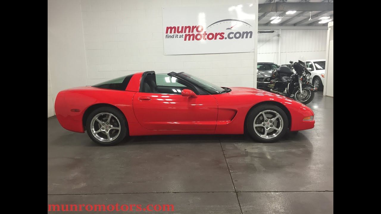 2003 Corvette Torch Red 36 kms SOLD Munro Motors - YouTube