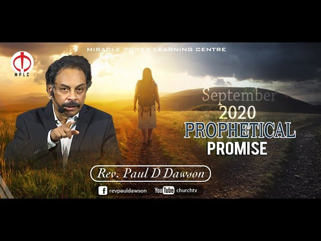 Prophetical Promise for the Month of September, 2020