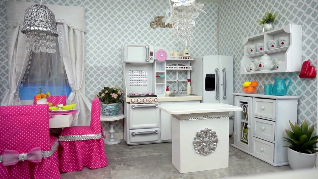 American Girl Doll Kitchen And Dining Room Tour Youtube