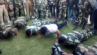 Vidyut Jamwal : Workout with BSF Jawan (Stunt)(exercise) (with indian soldier) #vidyutjamwaldietplan