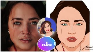 ✅ How to use ToonMe Cartoon yourself photo editor app on Android   Easy tutorial   1 click vector screenshot 1