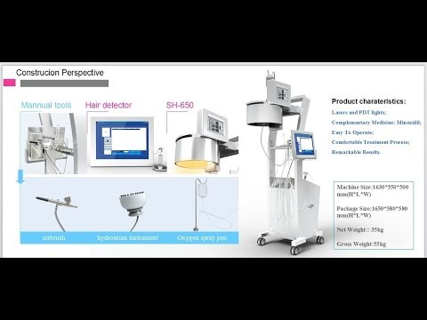 SH650-1 Low Level Laser Hair Growth Machine with LED Therapy Video