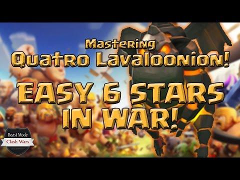 th9 quatro lavaloonion easy 6 stars in war