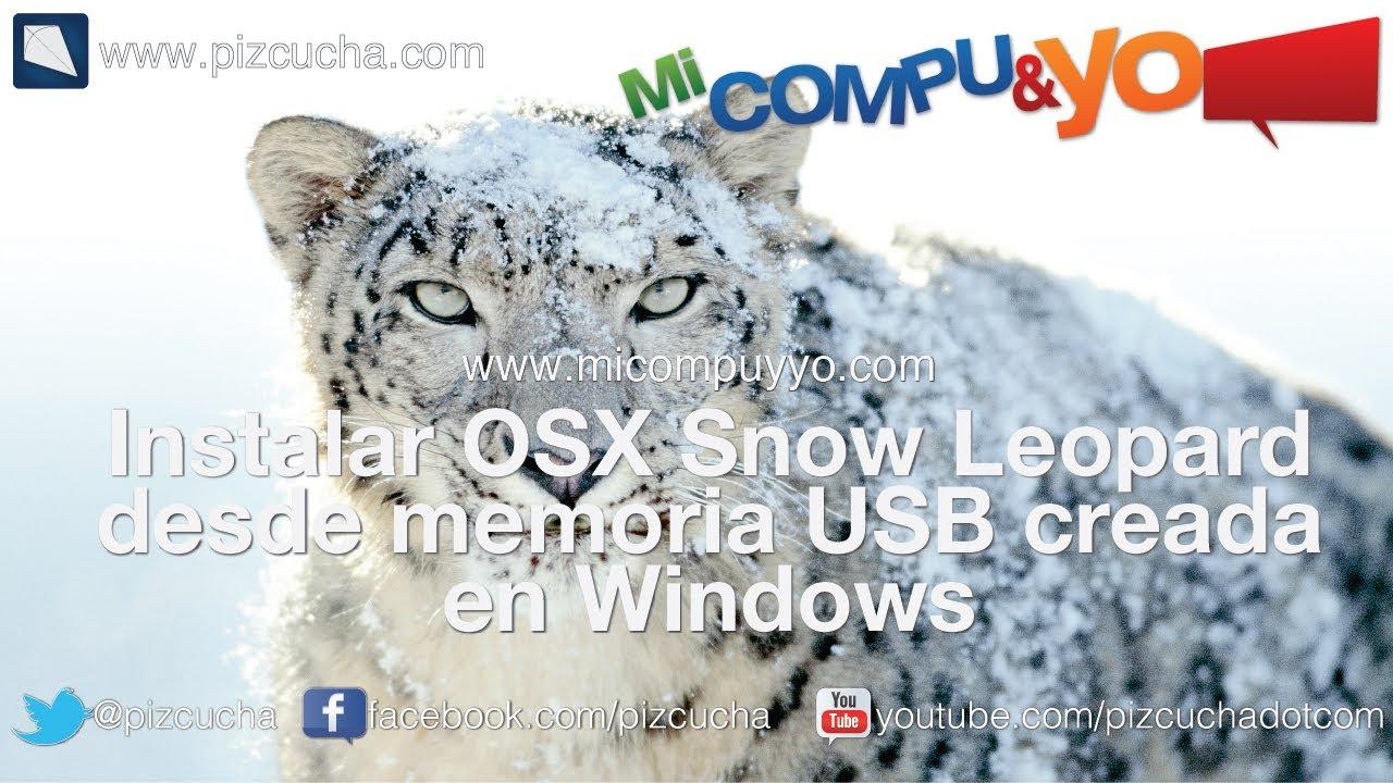 Memoria USB booteable para mac desde windows para instalar OSX Snow Leopard