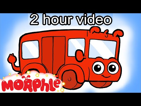 The Wheels On The Bus Go Round and Round (+2 hours of videos for children) My magic pet