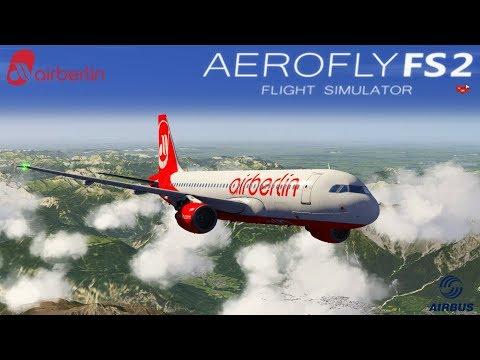 Aerofly FS 2 I Live ★ Airbus A320-200 Air Berlin I Innsbruck  - Zürich [Deutsch/HD]