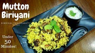 Mutton Biriyani Recipe Dindigul Thalapakati Mutton Biryani at home Mutton Biryani in Pressure Cooker