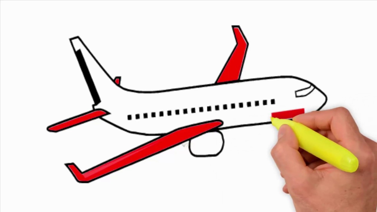 Coloring Pages Aeroplane Drawing For Kid 3060 How To Draw