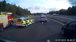 3 drivers on mobile phones at scene of accident on M5
