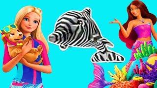 Барби и волшебные дельфины Игры с Барби спасает дельфинов Новый мультик #Малинки DOLL