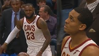 LeBron James Fools The Entire Pelicans Team with The Smartest HIGH IQ Play To Jordan Clarkson!