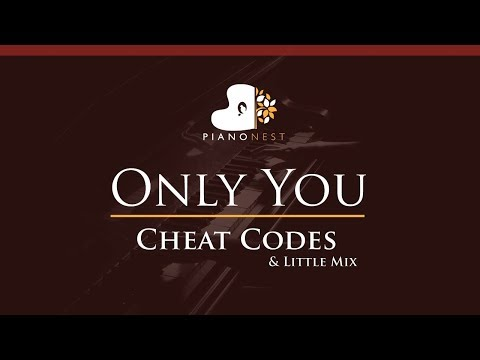 Cheat Codes & Little Mix - Only You - HIGHER Key (Piano Karaoke / Sing Along)