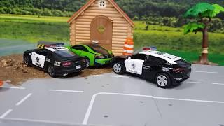 police car for kids cartoon / police car for babies