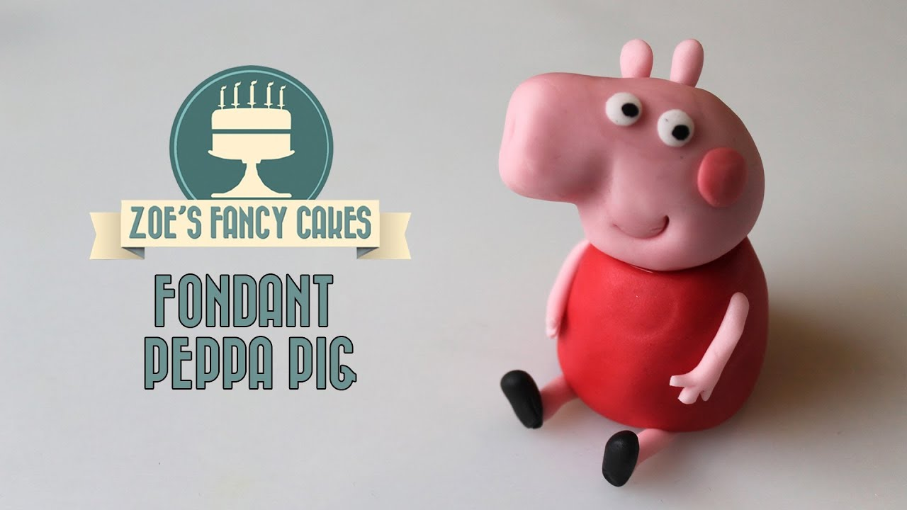 Peppa Pig Cake Topper Tutorial