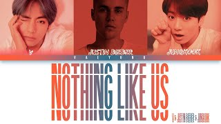 Gambar cover BTS (V & Jungkook) with Justin Bieber - NOTHING LIKE US (Color Coded Eng) Lyrics