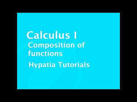 Calculus I   Composition of functions