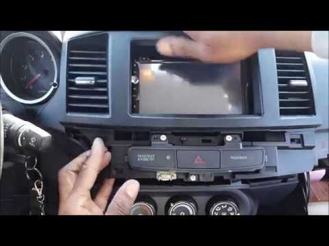 How To Remove And Install Aftermarket Radio In 2008-2017 Mitsubishi Lancer /GTS
