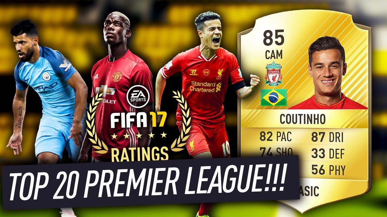 FIFA 17 TOP 20 PREMIER LEAGUE PLAYERS w/ 85 COUTINHO ...