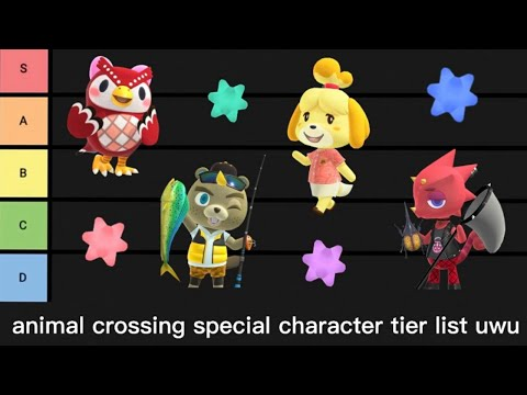 Animal Crossing Special Character Tier List New Leaf And New