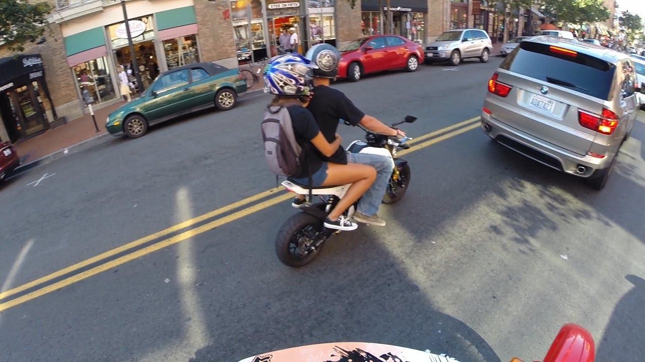 Honda Grom Riding With Passenger 2 Up Youtube
