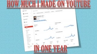 Video How much Money I made on YouTube with AdSense Earnings in a Year... download MP3, 3GP, MP4, WEBM, AVI, FLV Oktober 2018