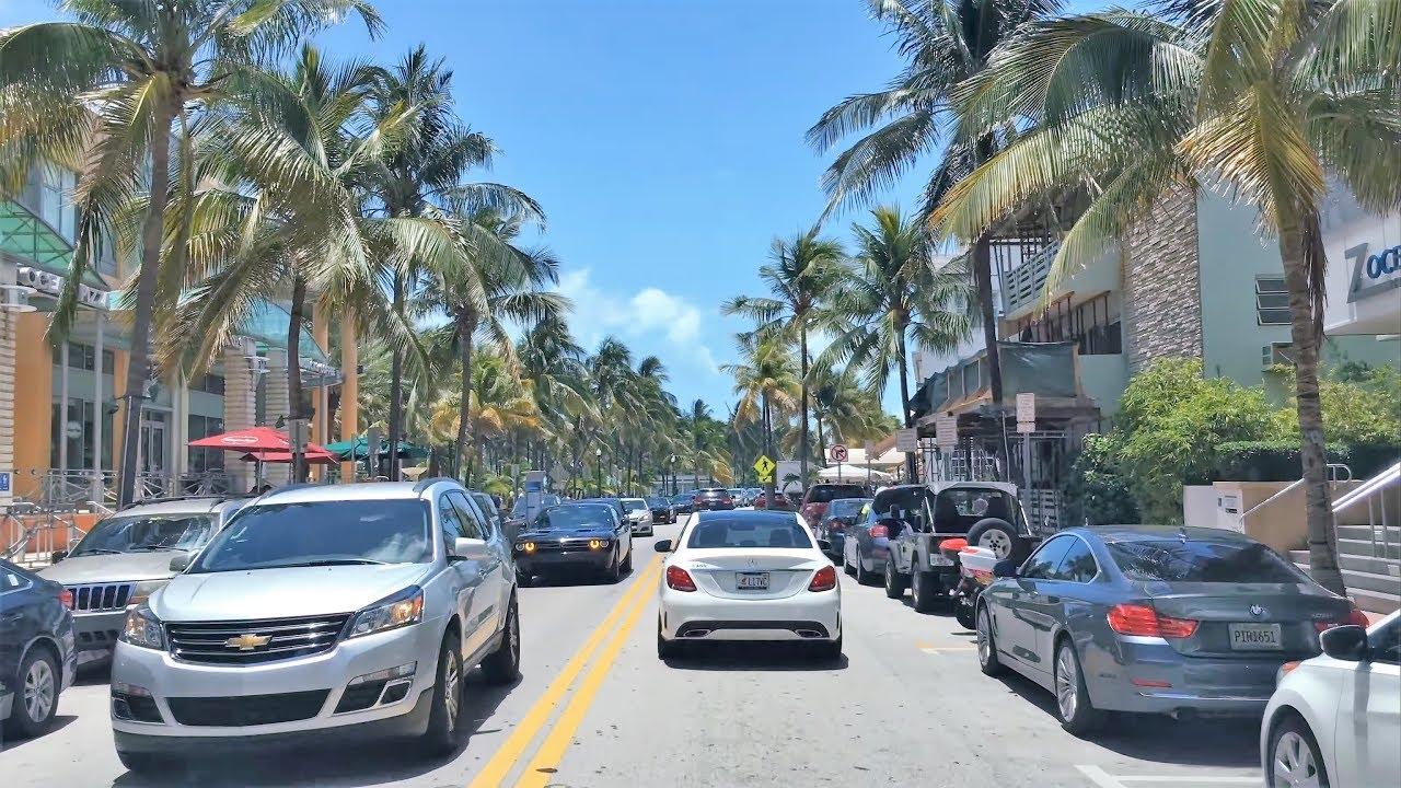 Driving Downtown - Miami's South Beach 4K - USA