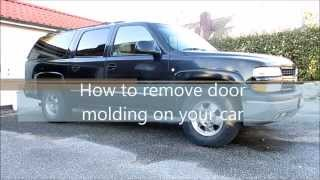 How to remove door molding on your car