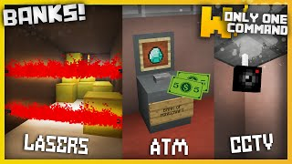 Minecraft - Banks with only one command block (ATMs, Security Cameras & Lasers)
