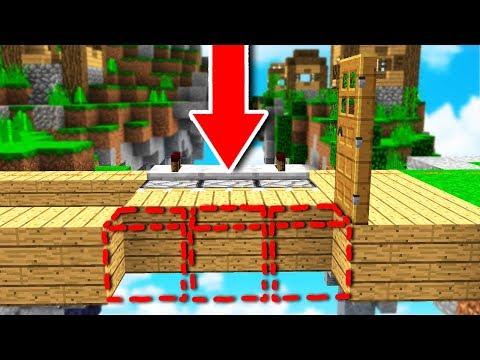 New CRAZY PISTON Door Trap TROLL! (Minecraft SKYWARS TROLLING) *insane version*