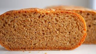 Пшенично ржаной хлеб на спелом тесте в кастрюле