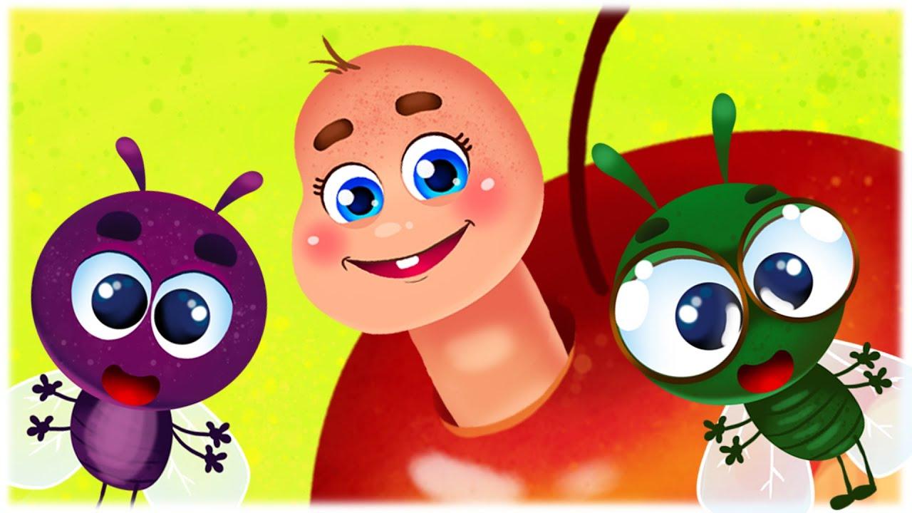Micul Viermeşor- Cântece Pentru Copii - Desene Animate în Limba Română - Cu Dragoste Pentru Copii