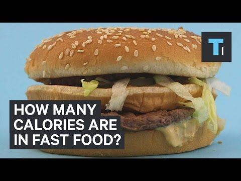 How many calories are in fast food?