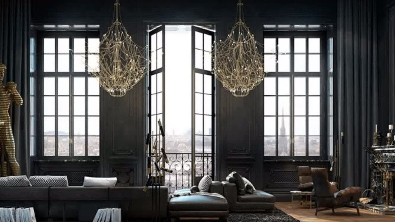 Interior design chic black paris apartment tour youtube for Interior design