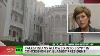 Egypt lifts Gaza blockade, allows Palestinians free entry