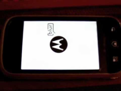 Motorola CLIQ boot