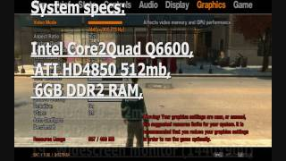 GTA IV Maxxing out on Core 2 Quad Q6600 & Club3D ATI Radeon HD4850 Special cooler edition