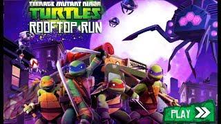 Черепашки ниндзя бег по крышам #1 мультик игра для дитей TMNT ROOFTOP RUN