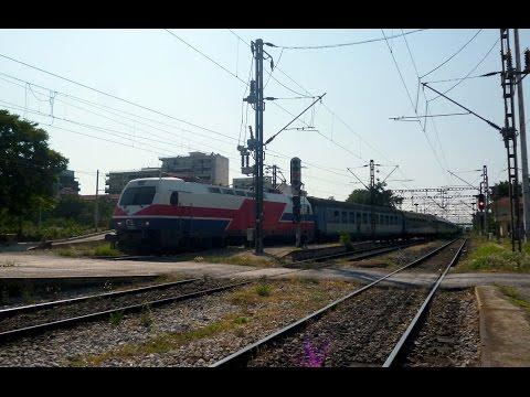"The international train 335/4 ""Hellas express"" in Thessaloniki (18/7/2015)"