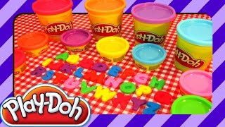Play Doh Letters Numbers Fun Abc Learning For Kids With Playdough Toys Playdoh Plado Pla Do