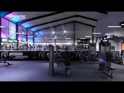 New Age Fitness - Gym Interior Visualisation