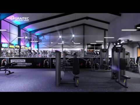 New Age Fitness - Gym Interior Visualisation